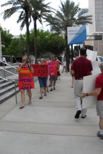 AIDS Protesters Blast Senator's Silence on ADAP