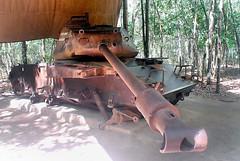 Vietnam Cu Chi Tunnels Busted US Tank (fotofrysk) Tags: vietnam cuchitunnels vietnamwar vietcong nikond200 ustank uswar