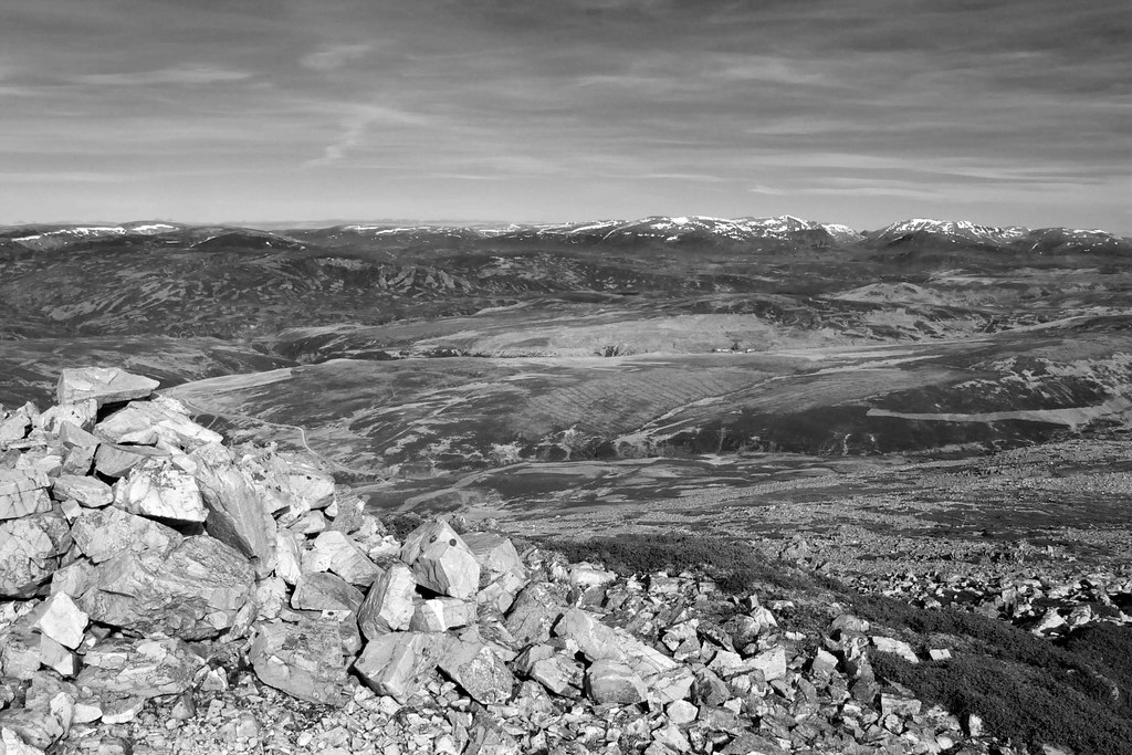 The Cairngorms (b&w)