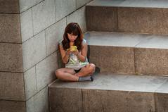 Seoul, Korea. (David Ducoin) Tags: woman temple asia phone traditional korea seoul southkorea iphone