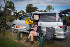 Spaceships tea stop at Waipuoa Forest