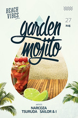 Free Summer PSD flyer (DusskDesign) Tags: summer flyer template psd poster garden mojito drinks beach club dj menu pub freesummerpsdflyer