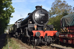 B1 61264 'tails' Black 5 45428 into Grosmont (colin9007) Tags: nymr north yorkshire moors railway grosmont lner london eastern thompson b1 460 61264