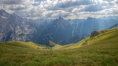 Italian Alps (pentars) Tags: alps italy landscape scenery view beautiful hill light beam sun clouds mountains field nature grass rocks hdr wide angle pentax sigma 1020 k5ii