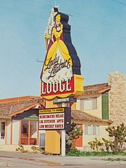 Lady Leatrice Lodge - Anaheim - Sign by Santa Ana Neon Co. (hmdavid) Tags: lady leatrice lodge motel disneyland sign midcentury design santaananeonco 1960s anaheim signage roadside