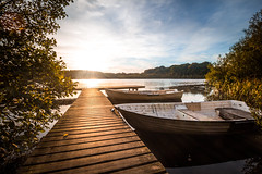 Late summer evening (Passe-) Tags: late summer evening last light water lake still mirror boat rowboat bridge dock warm sun sunny beautiful nature sweden skne brygga sommar sunset solnedgng bt robt vackert sj