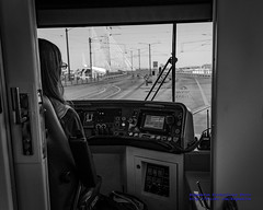 B&W Peeking Ahead to Tilikum Crossing From Portland (PDX) Streetcar (AvgeekJoe) Tags: bw blackwhite blackandwhite bridgeofthepeople d5300 dslr nikon nikond5300 oregon portland portlandstreetcar tilikumcrossing tilikumcrossingbridgeofthepeople unitedstreetcar willametteriver bridge cablestayedbridge masstransit streetcar transitbridge urbanrail