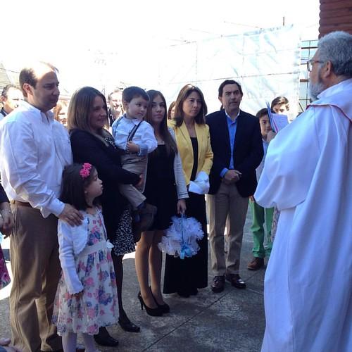 Acompañando a Alberto Alonso en su bautizo.