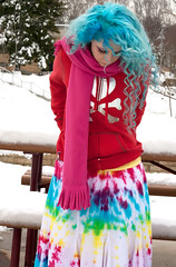 (wisely-chosen) Tags: selfportrait snow me january skirt tiedye canon50mmf18 bluehair tokidoki 2011 naturallycurlyhair manicpanicbadboyblue curlformers adobephotoshopcs5extended ardellfashioneyelashes111