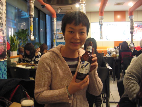First taste of Korean local beer!