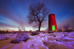 Red Silo; Green Light (Notley) Tags: longexposure light snow lightpainting green ice night farm january silo missouri freeze agriculture redlight nocturne bluelight bucolic grainsilo bocomo 2011 10thavenue purplelight notley ruralfarm ruralphotography boonecountymissouri notleyhawkins nightfarm missouriphotography httpwwwnotleyhawkinscom notleyhawkinsphotography mygearandme boonebounty farmatnight