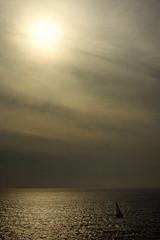 Boat and sun - French riviera - France (PascalBo) Tags: sea sky sun mer seascape france nature clouds landscape outdoors soleil boat nikon europe d70 ctedazur ciel provence nuages bateau paysage var frenchriviera pascalboegli