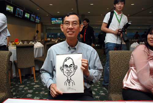 caricature live sketching for Thorn Business Associates Appreciate Night 2011 - 9