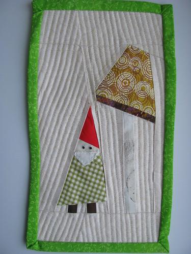 Gnome and Mushroom Mug Rug