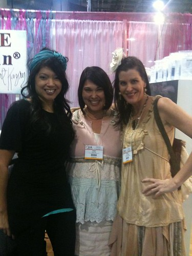 at ICE resin booth with Ruth & Kecia