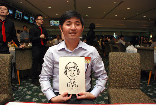 caricature live sketching for Thorn Business Associates Appreciate Night 2011 - 14