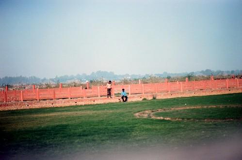 playing at the ashram