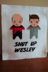 Shut Up Wesley (Cassey) Tags: startrek crossstitch craft captainpicard tng wesleycrusher shutupwesley