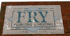 Fry Plumbing,Lewistown,Montana (montanatom1950) Tags: signs wall vintage advertising montana decay ghost plumbing dust derelict heating ghostsigns lewistown lewistownmontana