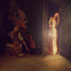 Pity the Shadow (Eilidh McM) Tags: door light shadow portrait abandoned girl lantern missaniela brookeshaden