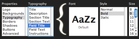 Smaller Font Sizes