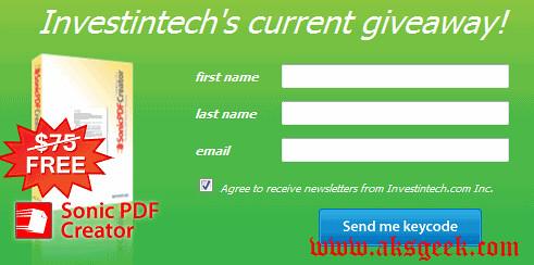 sonic pdf creator form