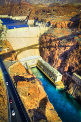 Hoover Dam from the Hoover Bypass Bridge (de_coder) Tags: from friends paisajes colors its del canon photography eos iso100 landscapes cool eyes flickr village open stuck propaganda top daniel group 7 8 full mg worldwide german user around jpg through flickrcentral dslr multicolored unlimited f71 catchy brilliant hdr clever romanian users customs romanians cabal tonemapped 9246 550d mundoworld codres gupr