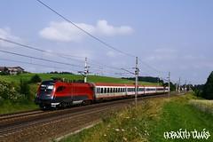1116 216-1, 05.07.2009, Pndorf (mienkfotikjofotik) Tags: eisenbahn railway taurus bahn bb kolej 1116 sterreichische vast es64u2 bundesbahnen railjet bb