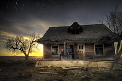 Patiently Awaiting the Return of the American West... (@!ex) Tags: longexposure sunset abandoned farm americanwest easterncolorado pentaxk5 sigma816mm