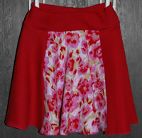 I love Red  - Upcycled 3T Skirt