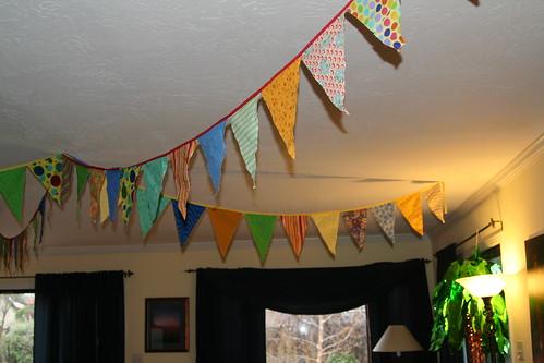 Birthday Banner I Sewed Last Year