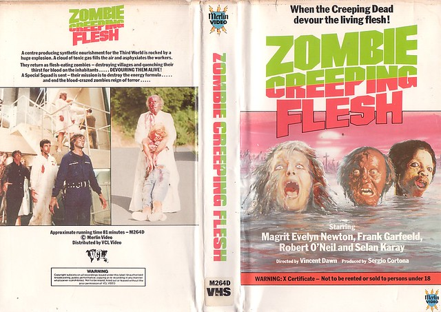 ZOMBIE CREEPING FLESH (VHS Box Art)