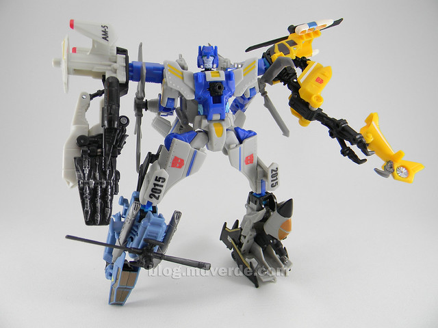 Transformers Searchlight Power Core Combiners - modo combinado con Aerialbots