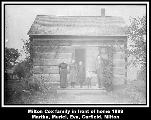 Milton Cox family in front of home 1898