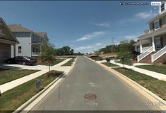 a subdivision on the edge of Charlotte (via Google Earth)