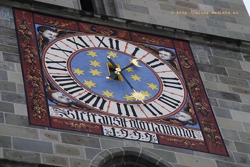 Ceasul Bisericii Negre - ceasul dinspre Facultatea de Silvicultura