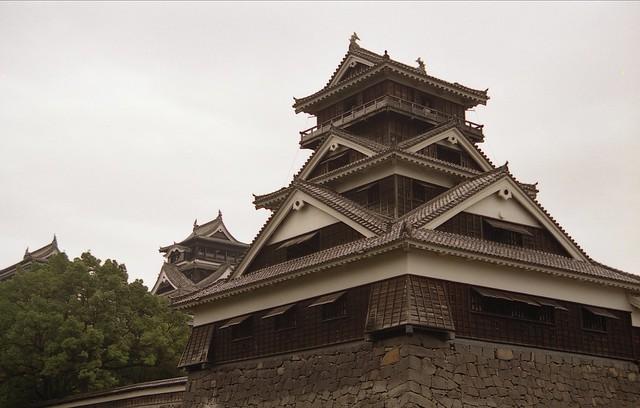熊本城のフリー写真素材