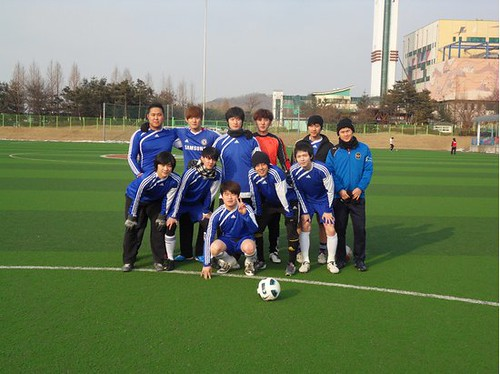 Kim Hyun Joong with Football Team