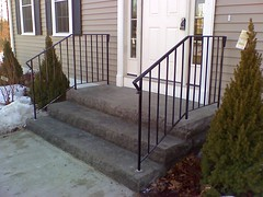 3. Granite steps with railings