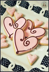 Happy Valentine's Day 2011 (Sweet Pudgy Panda) Tags: pink brown cookies hearts royal valentine sugar icing sweetpudgypanda