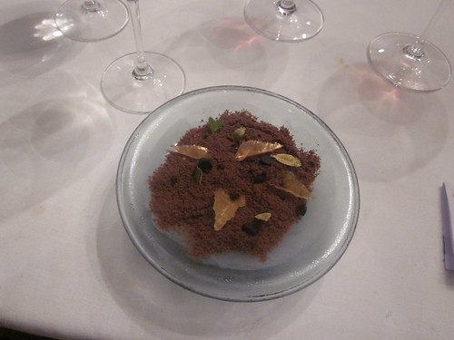 El Bulli - Roses - February 2011 - Gold Leaves in Coffee-Chocolate Soil