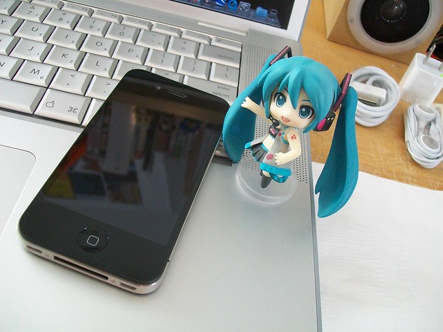 Miku and the iphone
