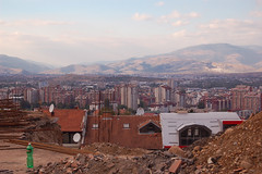 The view. (rae.joanna) Tags: above travel mountains tourism architecture photography bottle high construction europe view earth capital picture documentary september macedonia guide interest rubble 2010 skopje