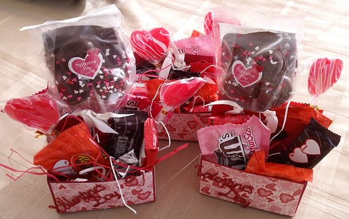 Stampin Up Valentine Treat Boxes