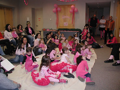 Storytime at the Pinkalicious party! (Library Gerbils) Tags: pinkalicious