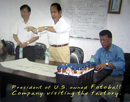 President of U.S owned Fotoball Company Visiting the Factory