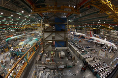 Double barrelled production (jplphoto) Tags: canon airplane awesome fisheye boeing 777 turkish jal everett airindia 787 boeingfactory canon15f28fisheye nycaviation jdlphoto jeremydwyerlindgren photojdl jeremydwyerlindgrenphotography