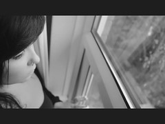 Nostalgia (panda (amber nyman)) Tags: morning light blackandwhite selfportrait window girl hair video eyes lips piercing nostalgia nostalgic shortfilm ambernyman