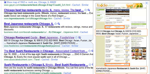 FoodieView Instant Preview doesn't show the Google Map