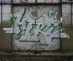 Herz 1st in silver (Herzoleum) Tags: abandoned wall writing silver painting graffiti paint bricks letters demolition urbanexploration brickwall mta nes piece herz mvp otb tds graffitiwall tpa herzo 2011 80sgraffiti silverpiece xts oldschoolstyle thedeathsquad badinc herz1 nescrew mtacrew umxs madtransitartists oldschoolstijl mvpwall zilverpiece herzone crosstownstatic